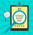 world sight day concept background flat style vector image vector image