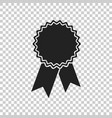 badge with ribbon icon in flat style on isolated vector image