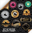 set of quality stamp vector image