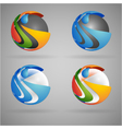 sphere colorful vector image