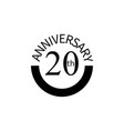 20 anniversary sign element of anniversary sign vector image vector image