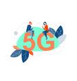 5g internet communication concept vector image vector image