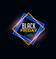 abstract black friday background in neon light vector image vector image