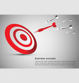 abstract business idea consistred dart board vector image
