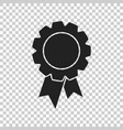 badge with ribbon icon in flat style on isolated vector image vector image