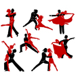 Ballroom dancing - 6 vector image vector image