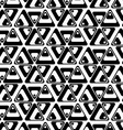 Black and white rotated triangles vector image