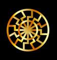 black sun symbol in gold- schwarze sonne vector image vector image