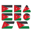 buttons with flag of Jordan vector image vector image