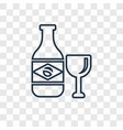 cachaca concept linear icon isolated on vector image