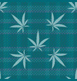 cannabis leaves seamless pattern background vector image vector image