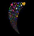cardiology random stream vector image vector image
