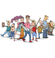 cartoon people group vector image vector image