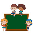 chalkboard and children banner vector image vector image