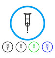 crutch rounded icon vector image