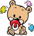 cute baby bear vector image vector image