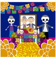 day of the dead 16 vector image vector image