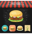 Double hamburger icon on a chalkboard Set of vector image vector image