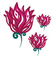 drawing of red rose or color vector image vector image