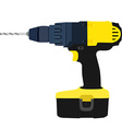 Drill driver vector image vector image