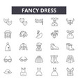 fancy dress line icons signs set outline vector image vector image
