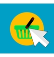 Flat buy button icon vector image vector image