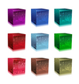glass cubes vector image vector image