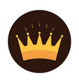 gold crown monarchy royalty block flat icon design vector image