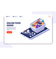 grocery food delivery isometric concept online vector image