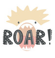 hand drawn a funny lion vector image