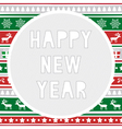 Happy new year greeting card8 vector image vector image