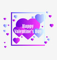 happy valentines day 14th of february greeting vector image