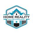 home emblem logo vector image vector image