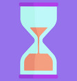 hourglass clock device measuring time sign vector image vector image