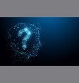 human head with question mark form lines vector image vector image
