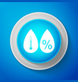 humidity icon weather and meteorology thermometer vector image vector image