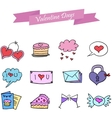 Icon of valentine day collection stock vector image vector image