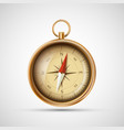 icon old metal compass vector image