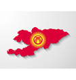 kyrgyzstan country map with shadow effect vector image vector image