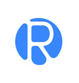 letter logo modern abstract blue icon of letter r vector image vector image
