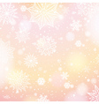 Light pink background with snowflakes and stars vector image