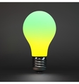 Lightbulb idea symbol 3d vector image vector image