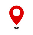 map pointer symbol flat icon or logo for web vector image