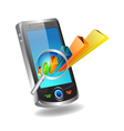 Mobile and graph vector image