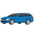 modern blue minivan family car vector image vector image