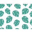 monstera leaves seamless pattern background vector image