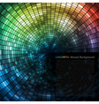 Mosaic Tunnel Background vector image