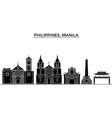 philippines manila architecture city vector image