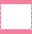pink and white frame made animal paw vector image vector image