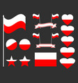 poland flag set collection of symbols flag vector image vector image
